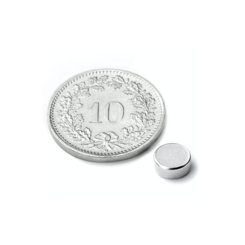 mighty-games-Disque magnétique Néodyme Ø 6 mm, hauteur 2 mm