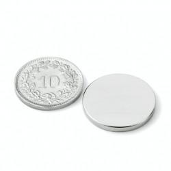 mighty-games-Neodym magnetic disk - Ø 20 mm, height 2 mm